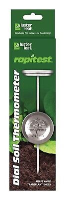 "Luster Leaf Soil Thermometer 6 "" Stainless Steel"