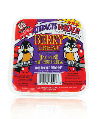 C & S Products Berry Treat Suet Beef Suet,Corn,White Millet 11.75 Oz Pack of 12