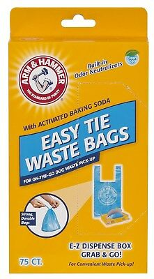 Arm & Hammer Disposable Pet Waste Bags 75 Count Pack 1