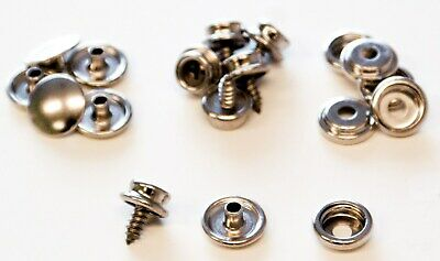 Lord & Hodge 1110A Brass Nickel Plated Screw Stud Snap Fastener Refills 6 Count