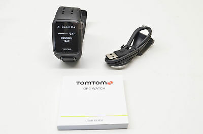 New TomTom Large Black Spark Cardio GPS Fitness Watch  NOS