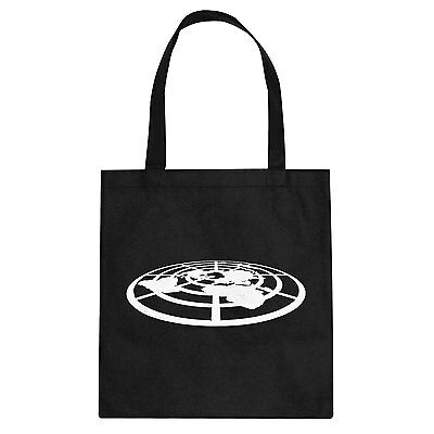 Tote Flat Earth Society Cotton Canvas Tote Bag #3248