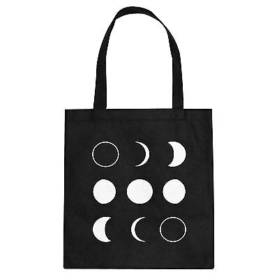 Tote Moon Phases Cotton Canvas Tote Bag #3264