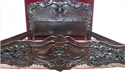 Rocco Revival  Bed Frame  Carved Wood King Size