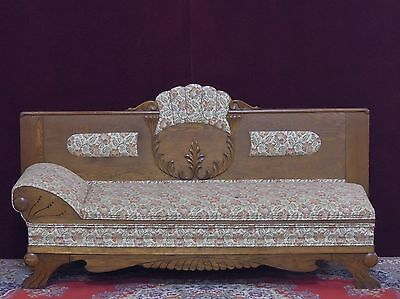 Antique Victorian  Fainting Sofa Hide a Way Bed Carved