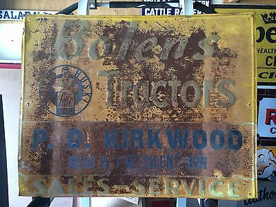 Vintage Original Bolens Tractor Metal Sign Agriculture Feed Seed