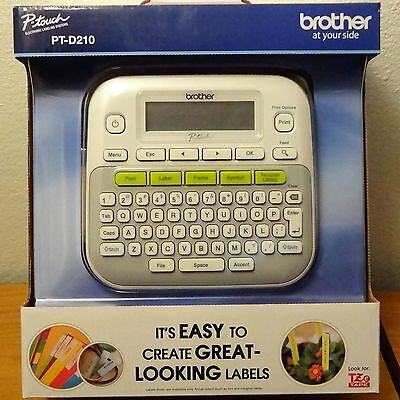 Brother P-Touch Label Maker  Model# Pt-D210  (New In Box)