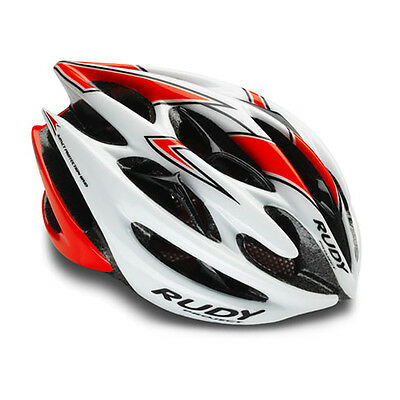 --  Rudy Project Casco Sterling, White/Red Fluo (Shiny) RP HL51270