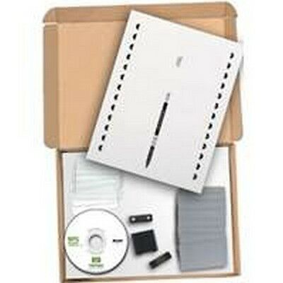 Illen 900857 Silver Reusable Name Badge Plate Starter Kit With Software