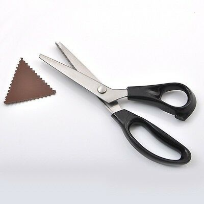 Professional Dressmaking Pinking Shears Fabric Crafts Zig Zag Cut Scissors NEW