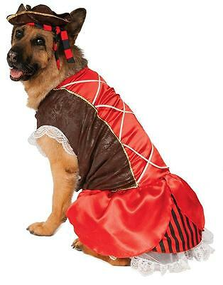 Pirate Girl Big Dogs Caribbean Fancy Dress Up Halloween Pet Dog Cat Costume