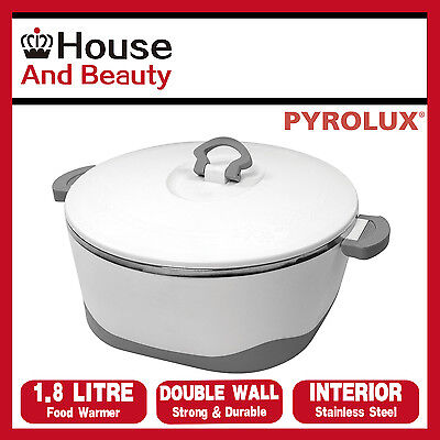 Pyrotherm by Pyrolux Double Wall Food Warmer Hot Pot 1.8 Liter S/Steel Interior