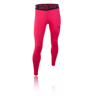 Asics Base Womens Pink Compression Training Gym Long Tights Bottoms Pants