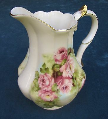 Beautiful Somerton Green Fine Porcelain Rose Pattern Jug