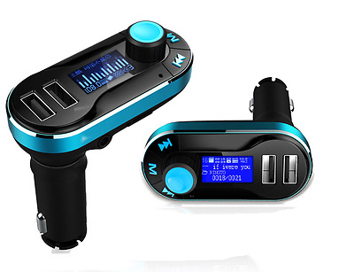 Newest Dual USB Car Charger MP3 Player FM Transmitter IF SD AUX USB Drive LCD US