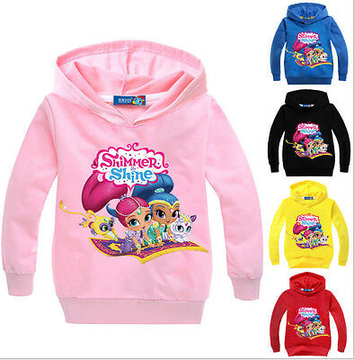 Kids Girls Shimmer and Shine Casual Hoodies Cartoon Jumper Pullover SweatShirts