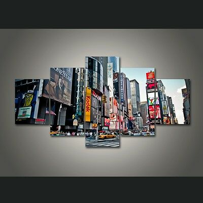 5 Pieces Canvas New York City HD Painting Wall Art Home Decor Framed