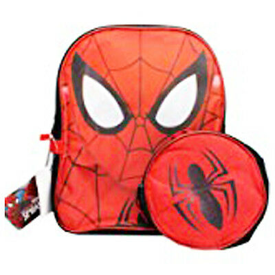 New Marvel Ultimate Spiderman 12 Inches Backpack With Lunch Bag