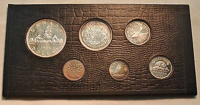 1956 Canada Proof Like GEM Set, 6 Coins, $1 One Dollar, Fifty Cent 25 C, Silver