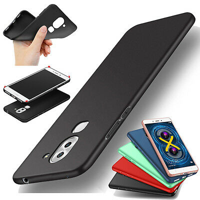 360° Shockproof Slim Soft Rubber Silicone Back Case Skin Cover For Huawei Phone
