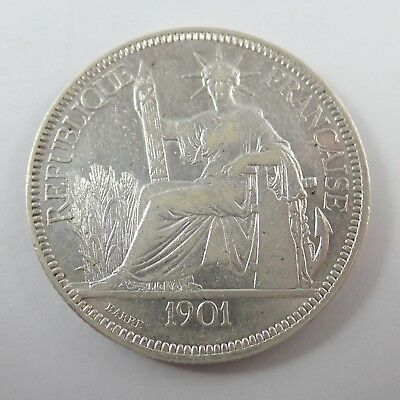 French Indo China  -  1901A  Silver Commerce Coin