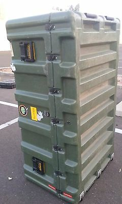 Two HARDIGG Shipping and storage cases with wheels and Foam 57 x 33 x 27  OD