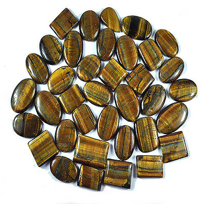 2785 Ct /37 Pcs Natural Untreated African Mix Cab Tiger Eye Wholesale Gems Lot