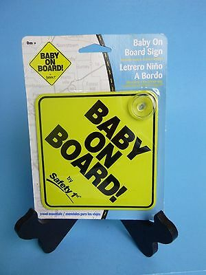 "SAFETY 1ST Yellow ""Baby On Board"" Sign New in Package Baby on Board"