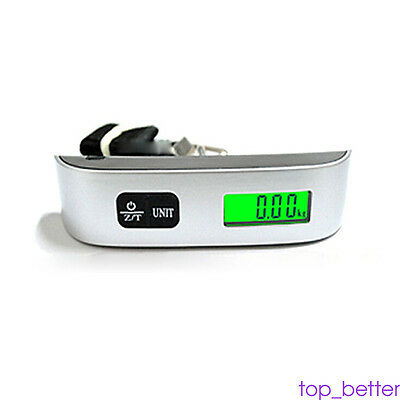 Hot 50kg/50g Electronic Digital LCD Weight Scale Hook For Hanging Luggage Handy