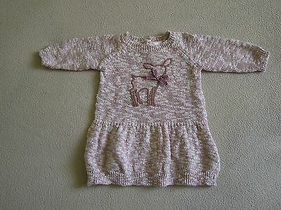Pull tunique rose manches longues Fille 3 mois           N°15F1/2
