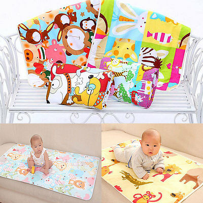 1pc Soft Baby Infant Waterproof Cotton Urine Mat Cover Burp Change Pad 60*90