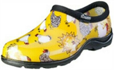 Sloggers 5116CDY10 Size 10 Women's Chicken Print Daffodil Yellow Waterproof Sho
