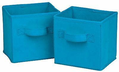 Honey Can Do SFT-02126 Mini Blue Folding Storage Cube 2 Count