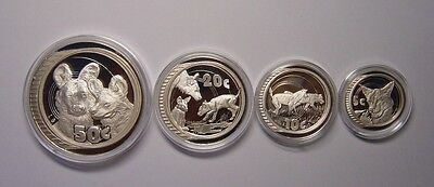 SOUTH AFRICA 5-50 Cents 2005 Silver Proof Set Wildlife Hunters only 700 sets