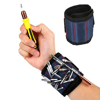 1Pc Sports 13.8'' Wrist Support Band Tool Belt Screw Kit Magnetic Wristband