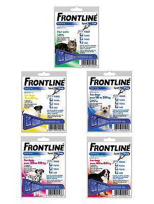 FRONT LINE 1 Pipette Pack - Flea and Tick Remedy for Dogs and Cats : AVM-GSL