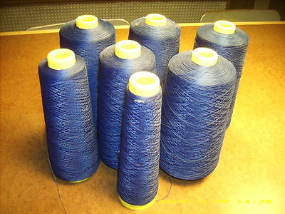 lot of (7) partial cones A&E Wildcat Plus Tex 24 Light Navy thread 4.84 pounds