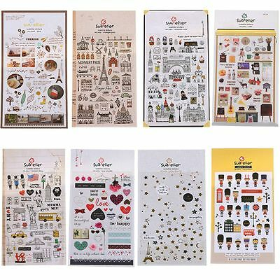 Stationery Decor Sticky Notes Planner Stickers Scrapbooking Album Paper Cards