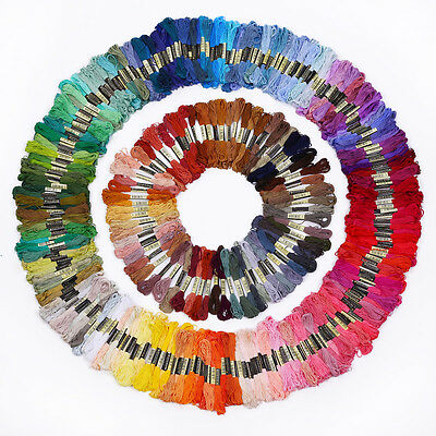 35/200 Color Cotton Cross Floss Stitch Thread Embroidery Sewing Skeins Hand