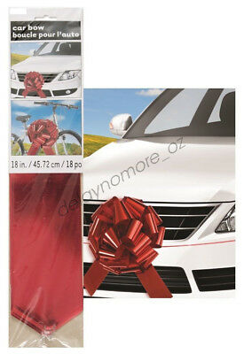 Giant Red Car Gift Bow Party Decorate Large Birthday Mother's Day Foil Metallic