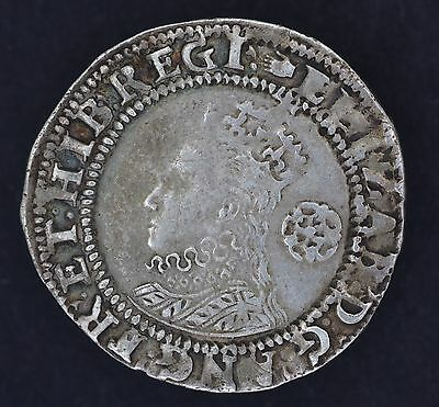 1590 Queen Elizabeth I Great Britain Silver Sixpence Six Pence 6D Coin