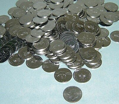 200 $1 Stainless Slot Machine Tokens - Newly Minted Dollar Size - Low Price !