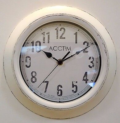 ACCTIM 'Bude' Vintage Style Distressed Finish Wall Clock 22042