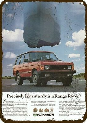 1991 RANGE ROVER by LAND ROVER SUV 4X4 TRUCK Vintage Look REPLICA METAL SIGN