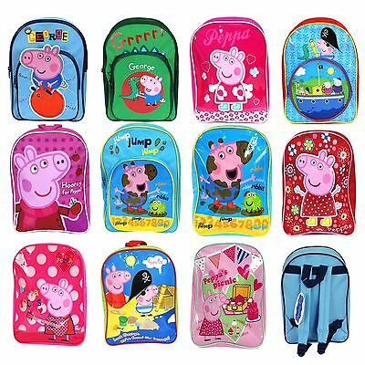 Peppa Pig Girls, Boys & Unisex Children's Rucksacks School & Sports Bag Range