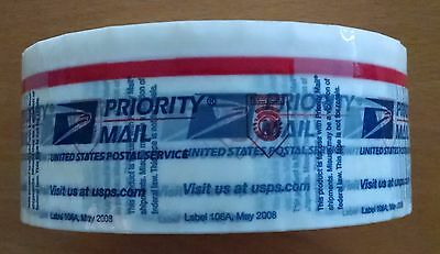 1 Roll Usps Priority Tape 106-A May 2008 Clear Blue Usps Logo Free Shipping