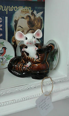 Vintage 1960/70's mouse in boot money box.