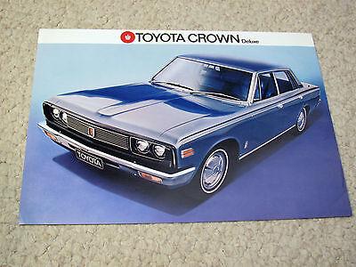1970s BRITISH TOYOTA  CROWN SALES BROCHURE..
