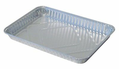 Durable Packaging Disposable Aluminum 1/4-Size Sheet Cake Pan Pack of 100