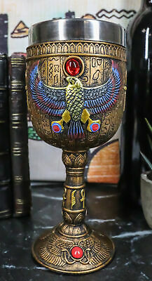 Ancient Egyptian Mythology Horus Falcon Bird God 6oz Wine Goblet Chalice Cup
